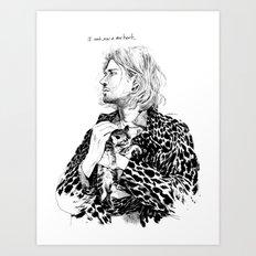 I cant grow a new heart Art Print