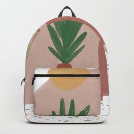 Abstract Boho Plants House Backpack