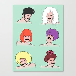 Moustaches and Wigs (pattern) Canvas Print