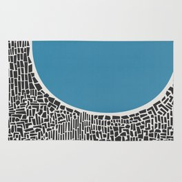 Abstract Blue Lake Rug
