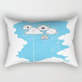 Young Clouds fooling around Rectangular Pillow