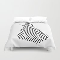 dress Duvet Covers featuring Dress by Yordanka Poleganova