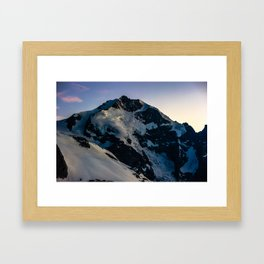 Piz Bernina after sunset Framed Art Print