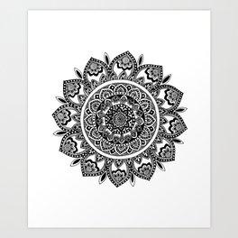 Bora Bora Mandala Art Print