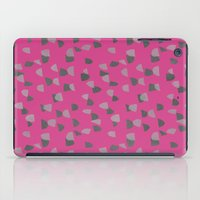 gray pattern iPad Cases featuring Pink & Gray pattern by Georgiana Paraschiv