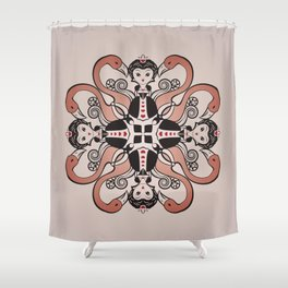 Queen of Hearts mandala Shower Curtain