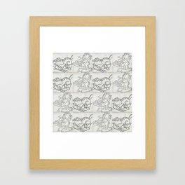Lasagne V Garfield V Lasagna Framed Art Print