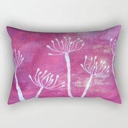 Alliums in Red Rectangular Pillow