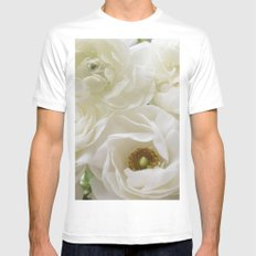 Timeless Moments MEDIUM White Mens Fitted Tee