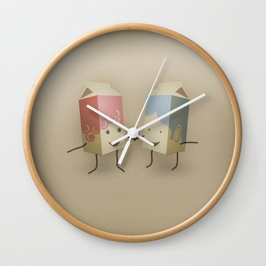 I only have pasteurised for you Wall Clock