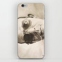 hunter s thompson iPhone & iPod Skins featuring Hunter S. Thompson Portrait in Charcoal by GileOne