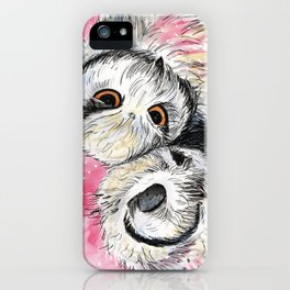 owl snuggles iPhone Case