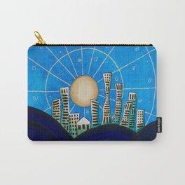 Blue Desert City Carry-All Pouch