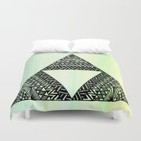 triforce Duvet Covers featuring Triforce by Leonnie's Art