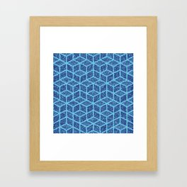 Kenna (Blue) Framed Art Print