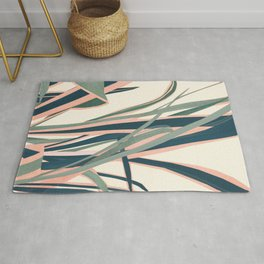 Colorful Plant Rug