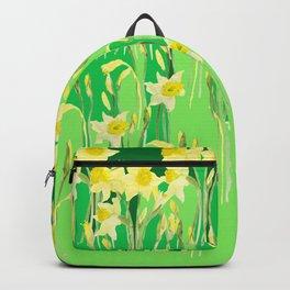 Daffodils in green Backpack