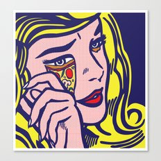 Crying Pizza Girl Canvas Print