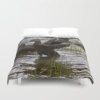 duck Duvet Covers featuring Duck by Isabelle Savard-Filteau