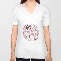 ying yang V-neck T-shirts featuring ying yang by Tapioles II