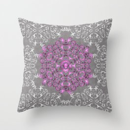 Mandala Pattern with Glitters II Throw Pillow