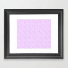 Dancing Purple Colored Snowflakes Framed Art Print