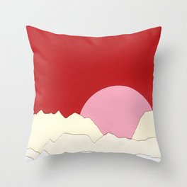 Sunset Styria Throw Pillow