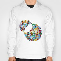 mozart Hoodies featuring Mozart abstraction by Laura Roode