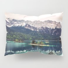 Green Blue Lake and Mountains - Eibsee, Germany Pillow Sham