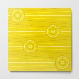Wattle Line Painting Metal Print