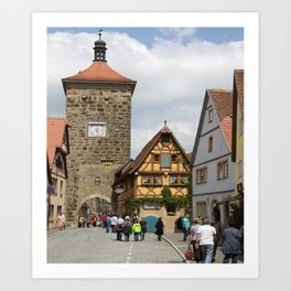 Rothenburg ob der Tauber Impression Art Print