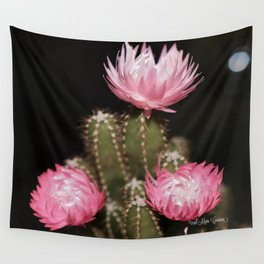 Pink Cactus Wall Tapestry