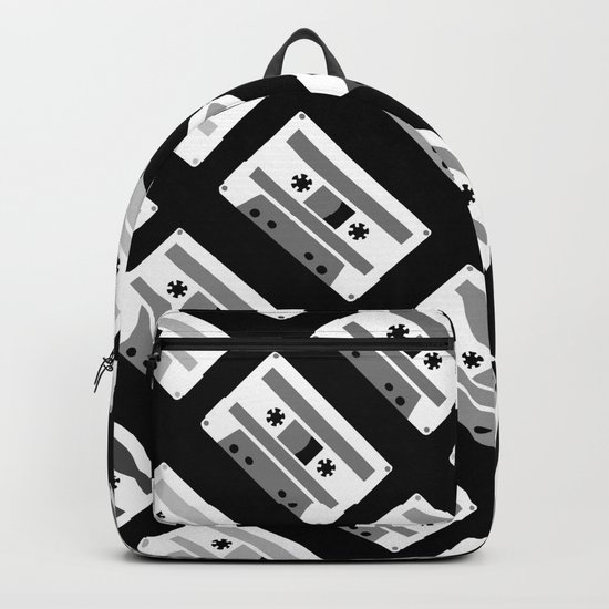 Black and White Tapes 45 Backpack