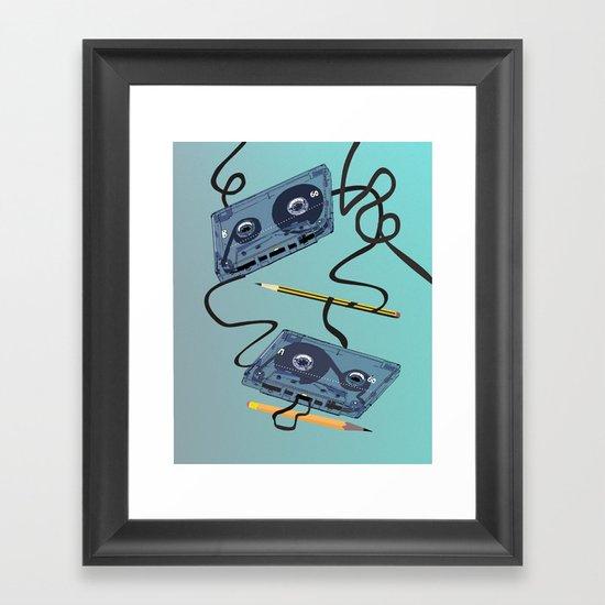 Rewind :) Framed Art Print