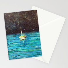 Sailboat Under The Stars Stationery Cards