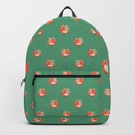 Feathery Friend Pattern - Green Backpack