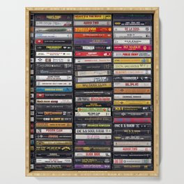 Old 80's & 90's Hip Hop Tapes Serving Tray