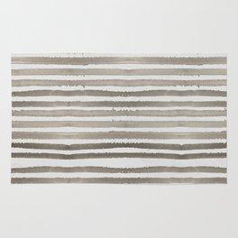 Simply Shibori Stripes Earth Brown on Lunar Gray Rug