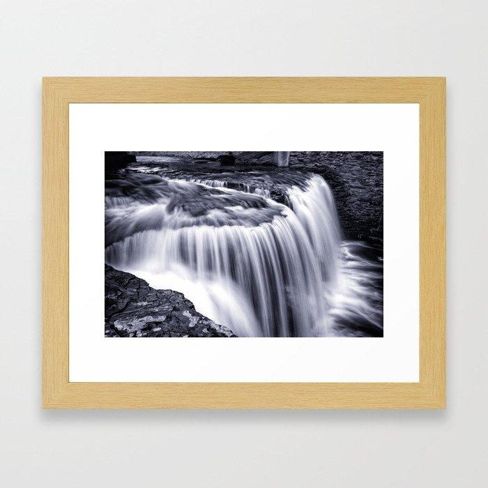Jackson Road Falls, 2016.03.18 Framed Art Print