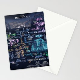 Hollow Knight Map Stationery Cards