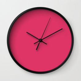 Cerise Pink Solid Color Wall Clock
