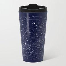 Constellation Map Indigo Metal Travel Mug