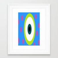 monsters inc Framed Art Prints featuring Monsters Inc. by amalchristine