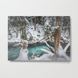 Adventure Awaits River - Pacific Northwest Nature Photography Metal Print
