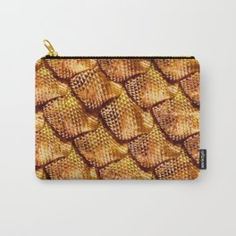 3d abstract snake skin, reptile scale Carry-All Pouch