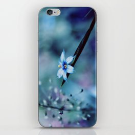 Blue on blue Flower Photography, Symphony in Blue iPhone Skin