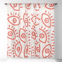 Eye Pattern Sheer Curtain