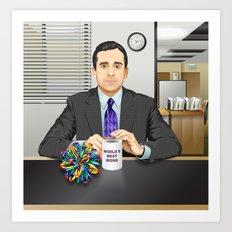 Steve Carell as Michael Scott (The Office) Art Print