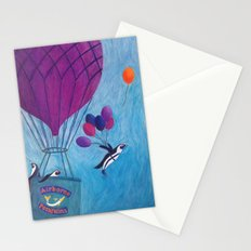 Airborne Penguins Stationery Cards