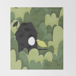 Birdhouse Throw Blanket